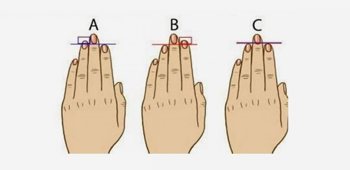 A mutató- vagy a gyűrűsujjad hosszabb? Ezt árulja el a személyiségedről