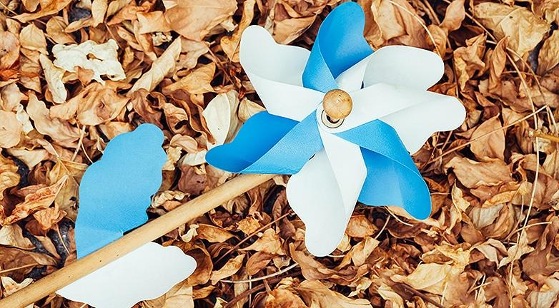 Így készül az őszi szélforgó és a papírsárkány