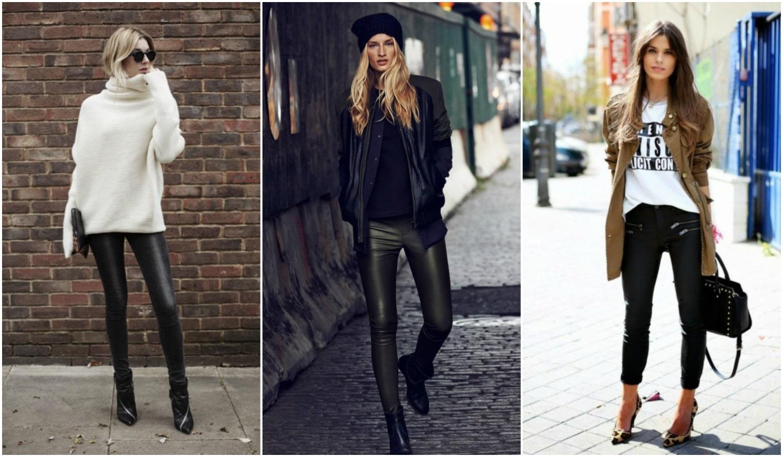 Így viseld trendin a bőrnadrágot