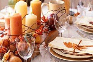 Ünnepi asztaldíszek őszre