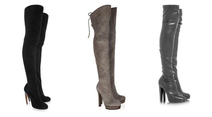 Őszi/téli cipő divat 2011: Térd feletti csizmák (Galéria)