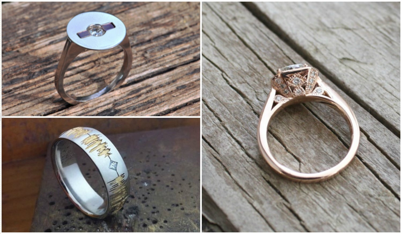 5 különleges jegygyűrű, ha valami igazán egyedit szeretnétek