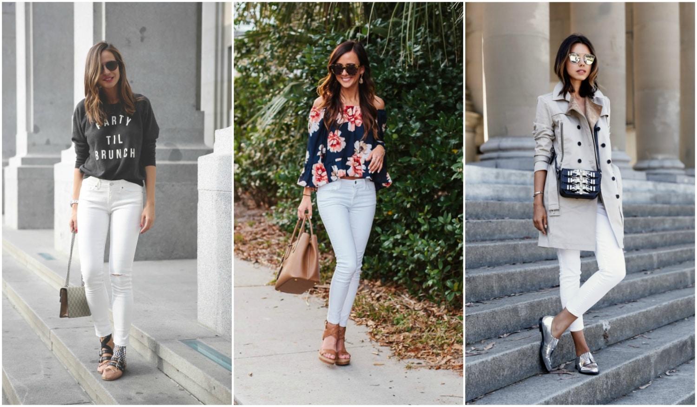 5 szett, amiben változatosan viselheted a fehér farmered