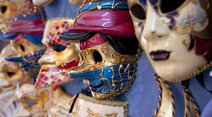 6 tipikus maszk a velencei karneválon
