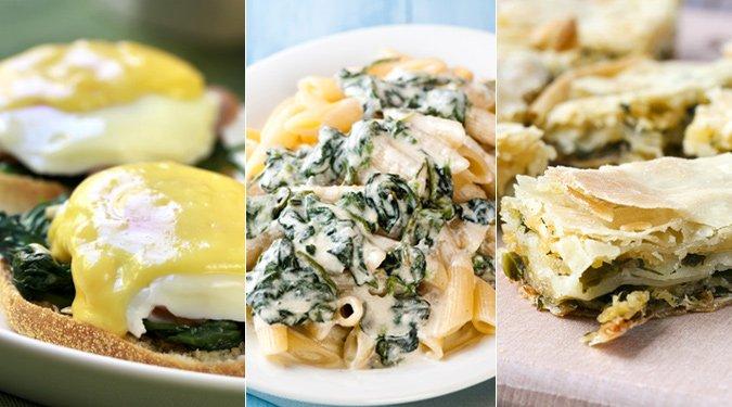 7 ínycsiklandó spenótos étel