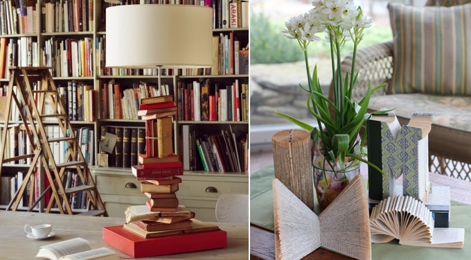 7 ötletes dekoráció könyvekkel, amit Te is elkészíthetsz