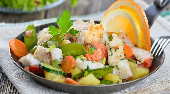 7 mennyei halas saláta recept