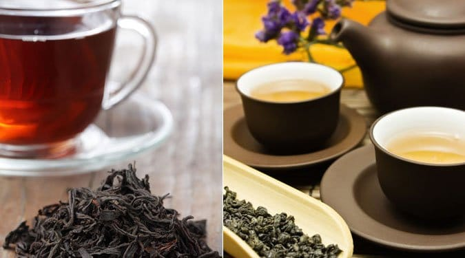 A zöld és fekete tea közti 6 fő különbség
