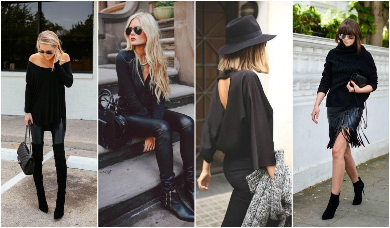 All Black! – Inspiráció talpig fekete outfitekhez