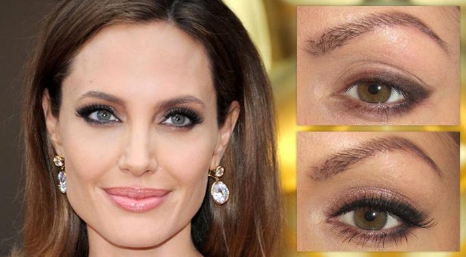 Angelina Jolie Oscar-sminkje 6 lépésben