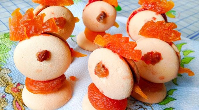 Aszaltbarackos piskótacsibék – Húsvéti édesség