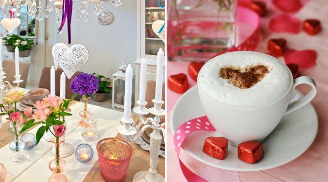 Asztaldekoráció ötletek Valentin-napra