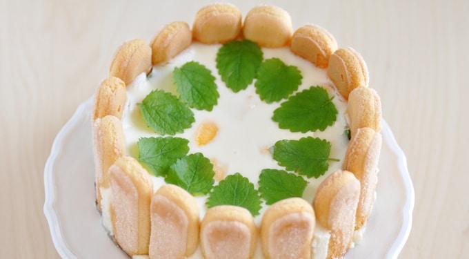 Citromos babapiskóta torta, sütés nélkül