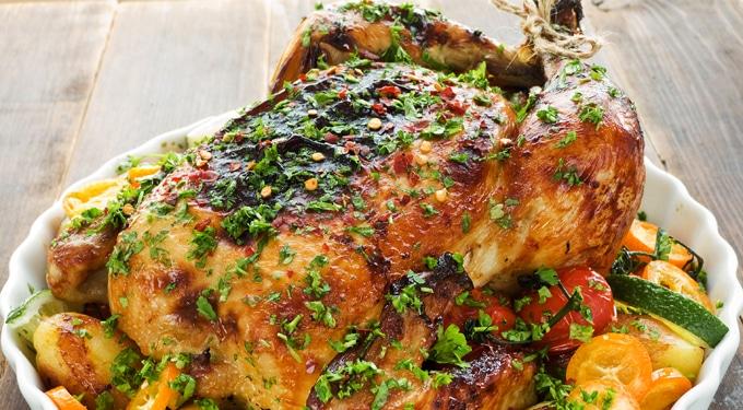 Citromos-petrezselymes sült csirke