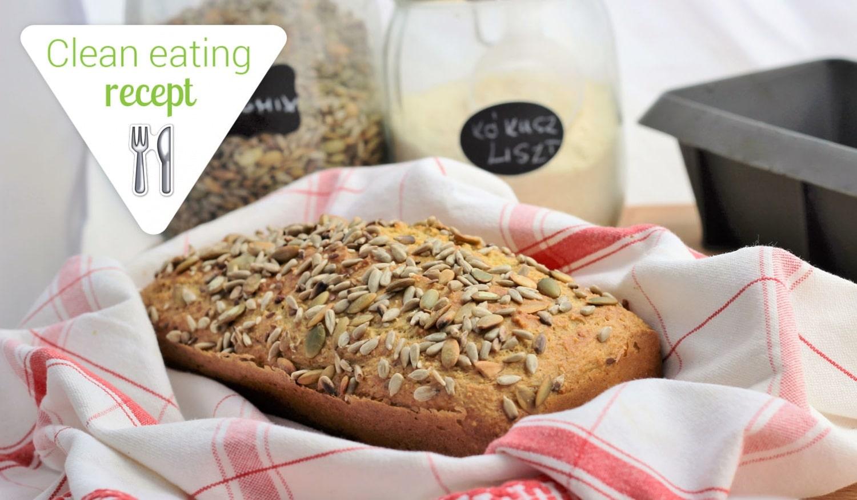 Clean Eating recept: Magvas házi kenyér kókusz- és zablisztből