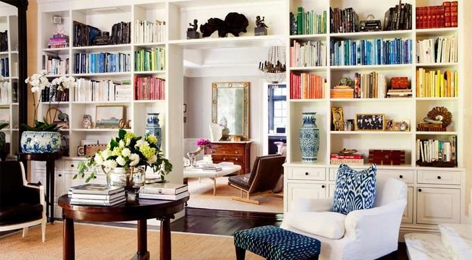 Dekoratív könyvtárolási praktikák