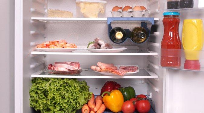 Egészséges táplálkozás és fogyás a hűtőszekrény újratöltésével