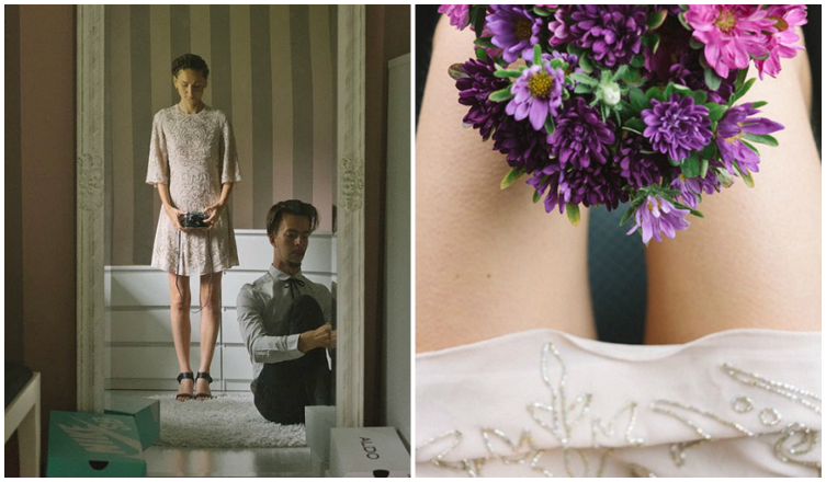 Egy nő eldöntötte, hogy ő lesz a saját esküvői fotósa: elkészültek a képek!