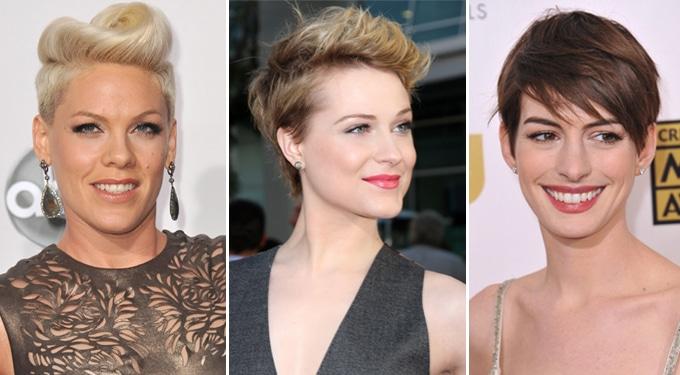 Elbűvölő rövid sztár frizurák