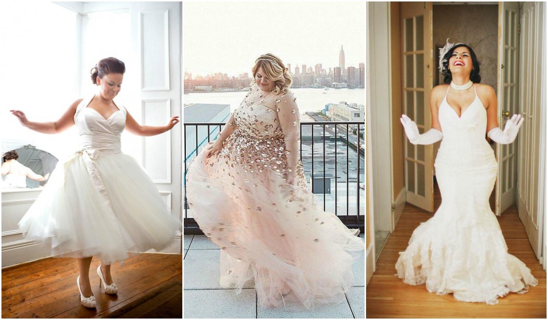 Extravagáns esküvői ruhák teltebb idomokra