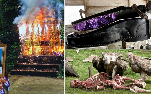Furcsa és gyomorforgató temetések a világban