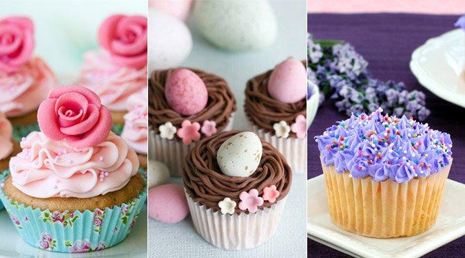 Gyönyörű húsvéti cupcake sütik