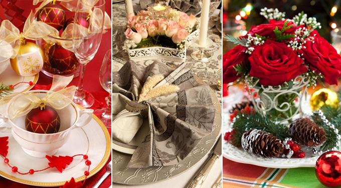 Hangulatos karácsonyi asztaldekorációk