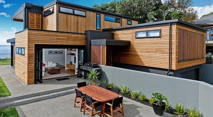 Inspiráló modern nyugalom-lakás Új-Zélandon