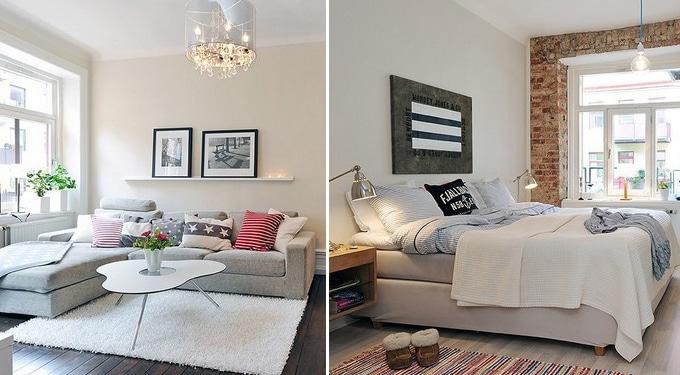 Inspiráló modern-rusztikus apartman Göteborgban