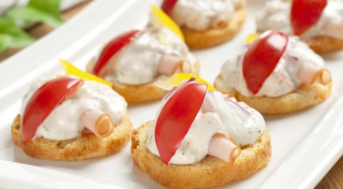 Joghurtos-sonkás falatkák, ha egyszerű csemegére vágysz
