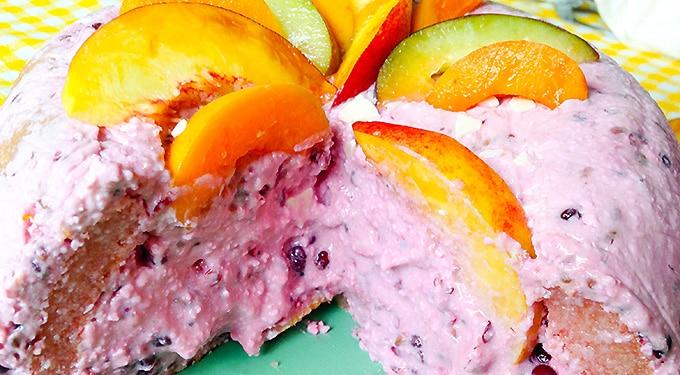 Joghurtos-túrós szederálom – nyár végi desszert sütés nélkül