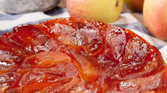 Karamelles almás pite (Tatin tarte)