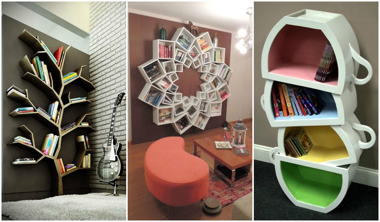 Kreatív könyvespolcok, amiket azonnal akarsz a lakásodba