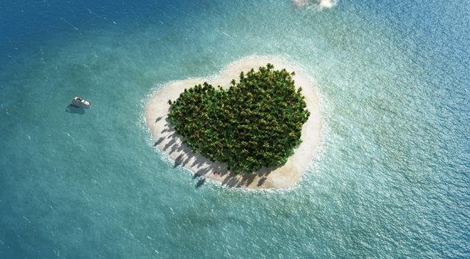Lenyűgöző szív alakú szigetek és tavak a nagyvilágban