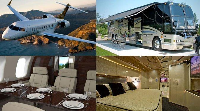 Luxusjárművek földön, vízen, levegőben