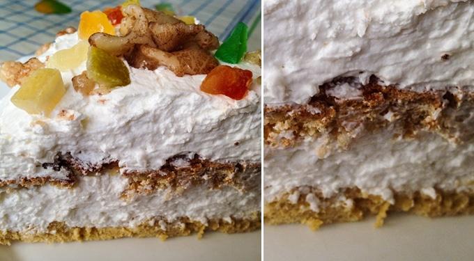 Marcipános-kókuszos fehércsoki torta