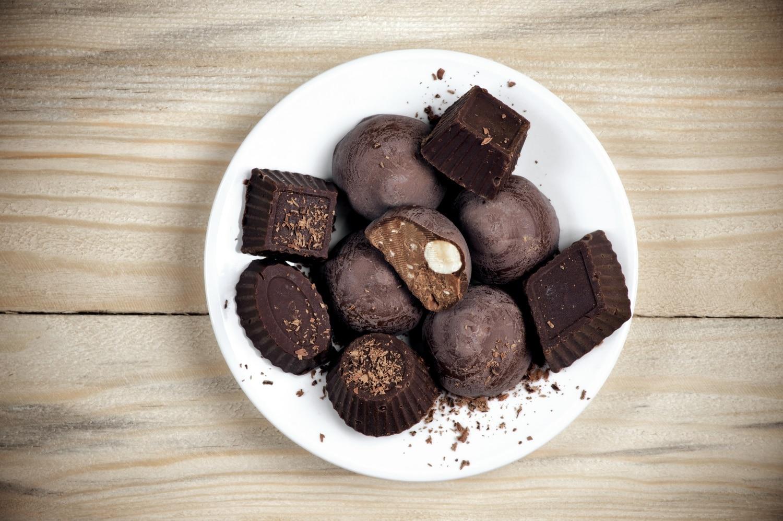 Marcipános-rumos bonbon