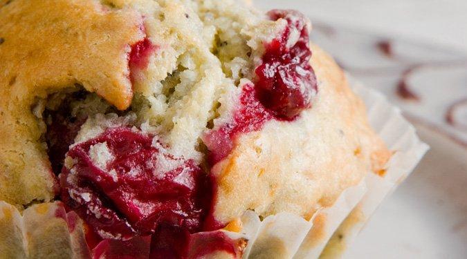 Meggyes-mákos muffin