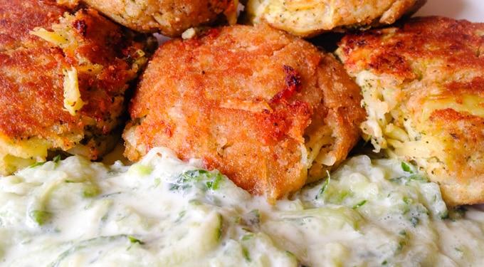 Mennyei recept! Brokkoli fasírt zabpehellyel tzatziki ágyon