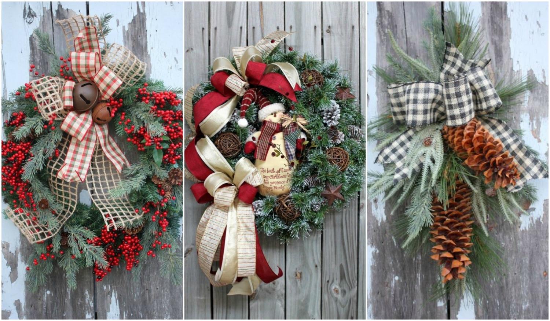 Meseszép ajtókopogtatók és koszorúk karácsonyi hangulatban