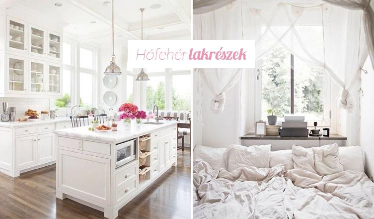 Mindig tökéletes választás: hófehér árnyalatok a lakásban