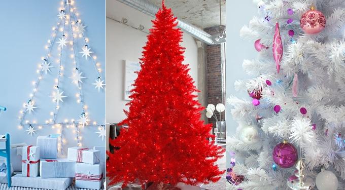 Modern karácsonyfák