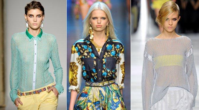 Női felső divat 2012 tavasz/nyár