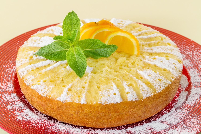 Narancsos sütemény marcipánnal
