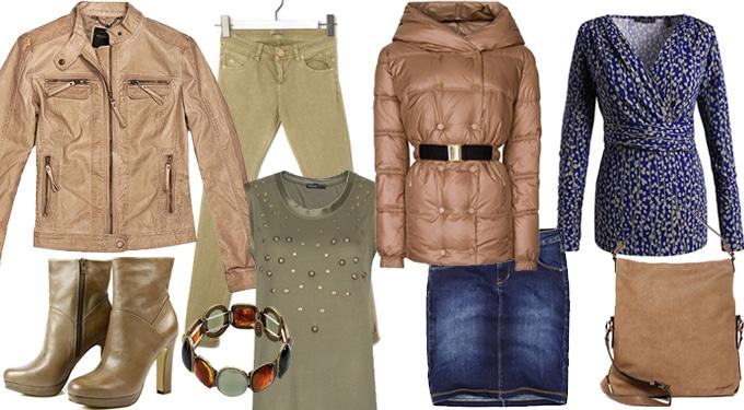 Nyerő téli színkombinációk barna kabátra