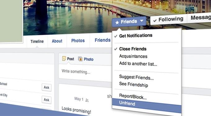 Okok, amiért töröltek az ismerősök közül a Facebookon