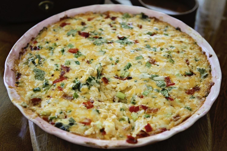 Sült sajtos krém zöldségekkel