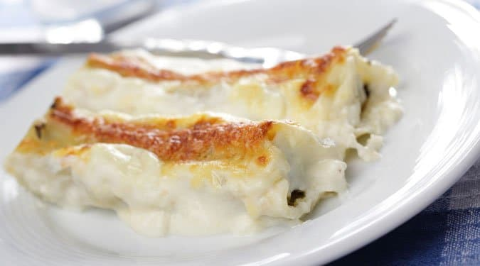 Spenótos, ricotta sajtos cannelloni