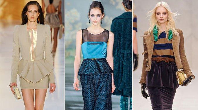 Szuper nőies trend őszre: a PEPLUM