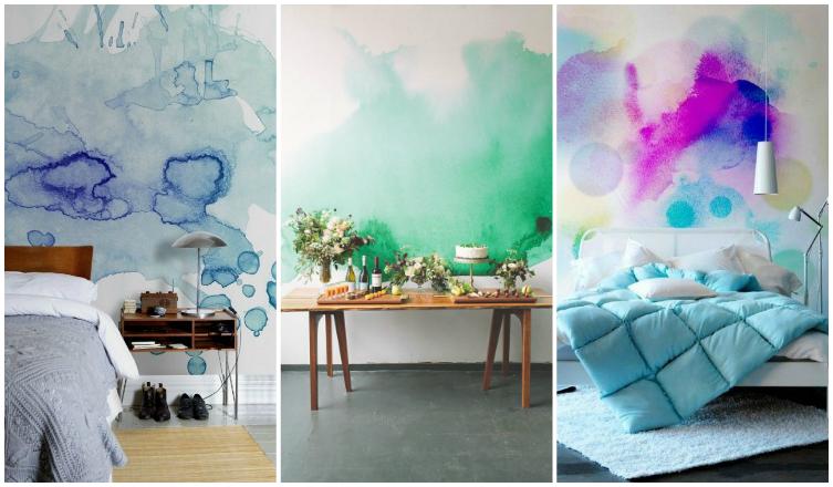 Vízfestéket a falra? Nem is hinnéd, milyen gyönyörű az új lakberendezési trend